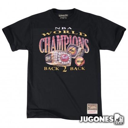 Houston Rockets Back 2 Back Champions Mitchell & Ness NBA T-Shirt