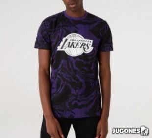 Los Angeles Lakers Oil Slick Print