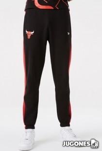 Chicago Bulls NBA Team Logo Raye Black Joggers
