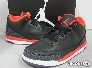 Nike Air Jordan 3 Black Crimsom (PS)