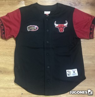 NBA Chicago Bulls Front Button Mesh Pure Shooter