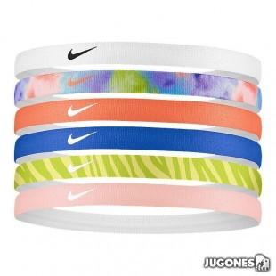 Cintas de pelo Nike Printed 6pk