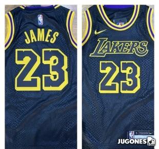 Los Angeles Lakers Nike Mamba City Edition Swingman Jersey - LeBron James