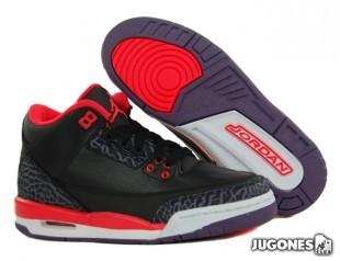 Nike Air Jordan 3 Black Crimson GS