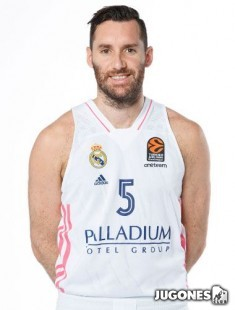 Camiseta Real Madrid 2020/2021 Jr Rudy Fernandez