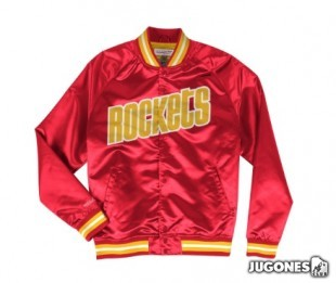 Mitchell & Ness Houston Rockets Lightweight Satin Jacket