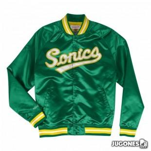 Mitchell & Ness Seattle SuperSonics Lightweight Satin Jacket (green)