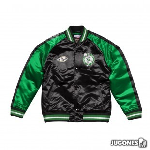 Color Blocked Satin Jacket Boston Celtics
